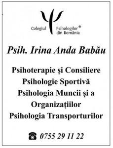 Psijolog Irina Babău