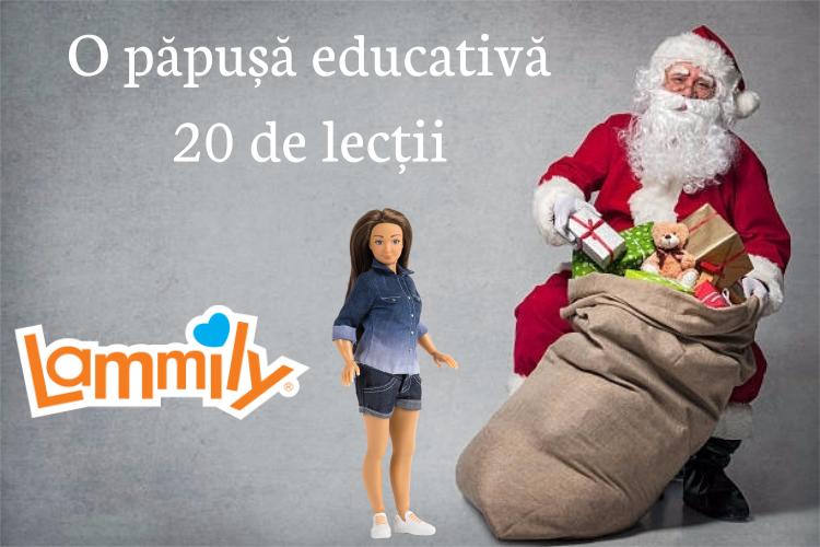 Cadou de Craciun - Papusa educativa- 20 de lectii pentru copii
